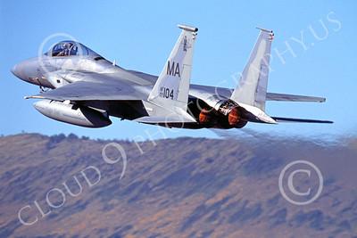ABF15 00008 McDonnell Dougla F-15 Eagle Massachusetts Air National Guard by Peter J Mancus