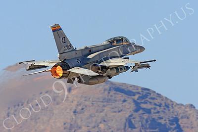 AB-F-16F 00008 Lockheed Martin F-16F Desert Falcon United Arab Emirates Air Force UAEF 003008 in afterburner at Nellis AFB by Peter J Mancus