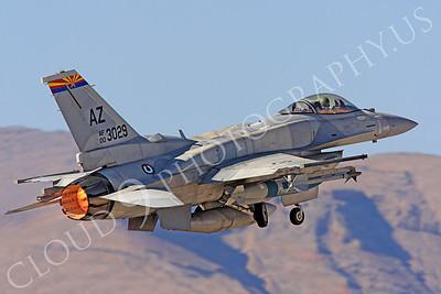 AB-F-16E 00018 Lockheed Martin F-16E Desert Falcon United Arab Emirates Air Force UAEF 003029 in afterburner at Nellis AFB by Peter J Mancus