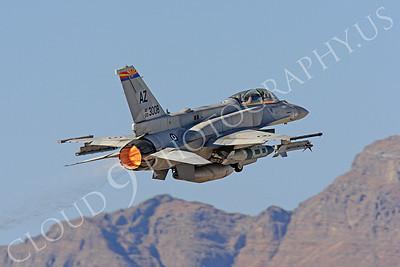 AB-F-16F 00006 Lockheed Martin F-16F Desert Falcon United Arab Emirates Air Force UAEF 003008 in afterburner at Nellis AFB by Peter J Mancus