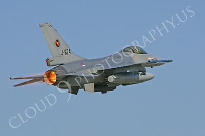 ABF16 00061 Lockheed Martin F-16 Fighting Falcon Dutch Air Force J874 by Paul Ridgway