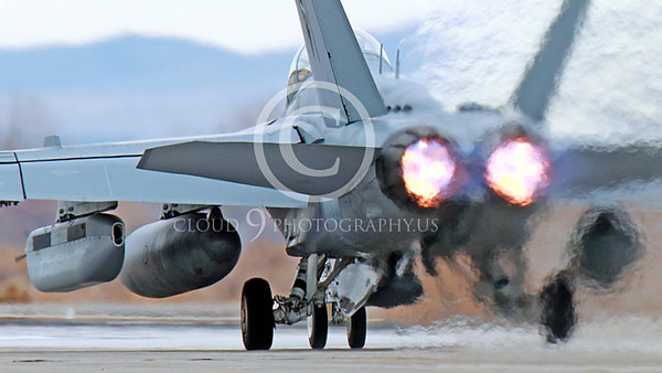 AB-EA-18GUSN 00036 A Boeing F-18G Growler USN takes-off in afterburner NAS Fallon 11-2013 military airplane picture by Peter J Mancus