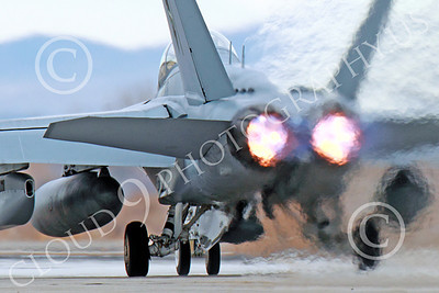 AB-EA-18GUSN 00020 A Boeing F-18G Growler USN takes-off in afterburner NAS Fallon 11-2013 military airplane picture by Peter J Mancus