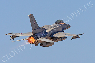 AB-F-16E 00014 Lockheed Martin F-16E Desert Falcon United Arab Emirates Air Force UAEF 3033 in afterburner at Nellis AFB by Peter J Mancus