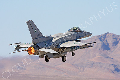 AB-F-16E 00012 Lockheed Martin F-16E Desert Falcon United Arab Emirates Air Force UAEAF 3033 in afterburner at Nellis AFB by Carl E Porter