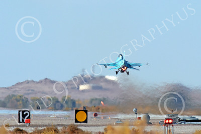AB-F-16USN 00010 A blue Lockheed Martin F-16 Fighting Falcon jet fighter USN TOP GUN takes off in afterburner at NAS Fallon 10-2013 military airplane picture by Peter J Mancus