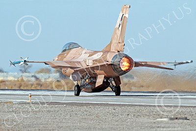 AB-F-16USN 00003 A brown Lockheed Martin F-16 Fighting Falcon USN TOP GUN in afterburner NAS Fallon 10-2013 military airplane picture by Peter J Mancus
