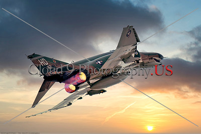 AB-F-4-USAF 004B A McDonnell Douglas QF-4E Phantom II USAF jet fighter drone 162 82 ATRS HD code in afterburner, 2016, military airplane picture by Peter J Mancus     Dt