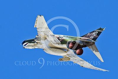 AB - F-4IIUSAF 00020 A USAF McDonnell Douglas F-4 Phantom II in full afterburner soars skyward, by Peter J Mancus