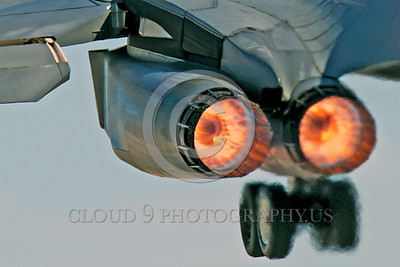AB-B-1USAF 00006 Close up of two jet engines on a USAF Rockwell B-1B Lancer strategic jet bomber 37BS 86094 EL code during take off in full afterburner at Nellis AFB military airplane picture by Peter J Mancus tif