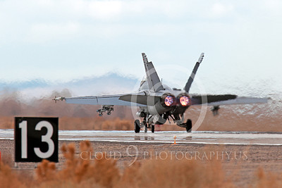 AB-F-18USN-S 00033 A Boeing F-18F Super Hornet takes off NAS Fallon 3-2013 military airplane picture by Peter J Mancus