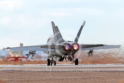 AB-F-18USN-S 00043 A Boeing F-18F Super Hornet takes off NAS Fallon 3-2013 military airplane picture by Peter J Mancus