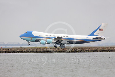 VC-25A 00013 USAF VC-25A, 28000, a Boeing 747-200B, aka Air Force One, touches down at SFO on 20 April 2011, military airplane picture, by Peter J Mancus
