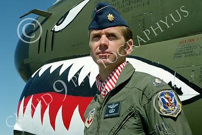 ACM 00024 USAF Vought A-7D Corsair II attack pilot Bob Lushbaugh by Peter J Mancus