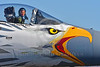 "ACM 00419 An Oregon Air National Guard fighter pilot in his ""office"", the cockpit of a McDonnell Douglas F-15 Eagle air superiority jet fighter in rare special markings, at Reno Air Races 2016, by Peter J  Mancus"