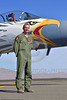 ACM 00427 Portrait of an Oregon Air National Guard F-15 Eagle jet fighter pilot standing by his jet at Reno Air Races 2016, by Peter J  Mancus
