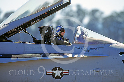ACM 00005 F-18 Hornet fighter pilot by Peter J Mancus