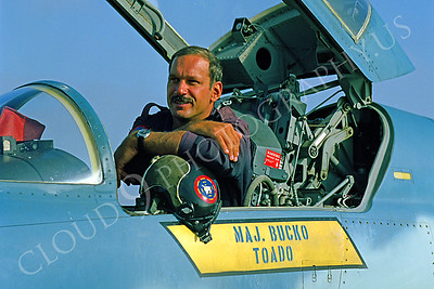 ACM 00011 Major Lenny Bucko, TOPGUN instructor F-5 fighter pilot by Peter J Mancus