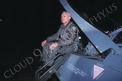 ACM 00004  Lt Col John Peterson, F-16 fighter pilot by Peter J Mancus