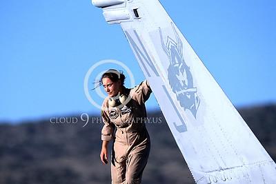 ACM 00019 US Navy F-18 Hornet female plane captain by Peter J Mancus