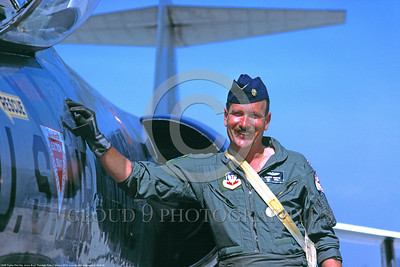 ACM 00009 Major Jimmy Boyd, F-104 Starfighter pilot and ex-F-105 Thunderchief pilot with 240 missions over North Vietnam by Peter J Mancus