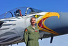 ACM 00421 Portrait of an Oregon Air National Guard F-15 Eagle jet fighter pilot standing near his jet with a rare special color scheme at Reno Air Races 2016, by Peter J  Mancus