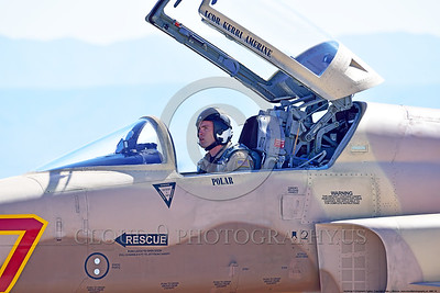 ACM 00018 Portrait of a USN VFC-13 SAINTS Northrop F-5E Freedom Fighter adversary fighter pilot at NAS Fallon 4-2016 military airplane picture by Peter J  Mancus
