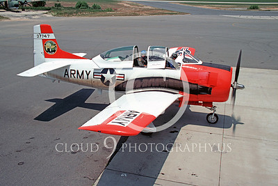 T-28USA 00001 North American T-28 Trojan US Army Aug 1980 by Peter B Lewis