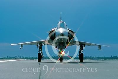 ARTY-M 000051F Israeli Aircraft Co USMC F-21 Kfir Yuma April 1988 by Peter J Mancus