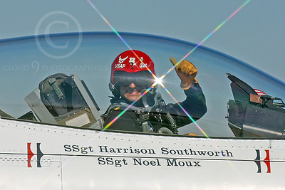 ACM 00382 USAF F-16 Fighting Falcon Thunderbird pilot by Peter J Mancus