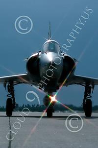 ARTY-M 000051B Israeli Aircraft Co USMC F-21 Kfir Yuma April 1988 by Peter J Mancus