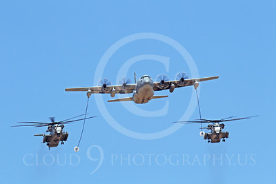 AAR 00115 A USMC Lockheed KC-130 Hercules and two USMC Sikorsky CH-53 Sea Stallion helicopters prepare to aerial refuel airplane picture, by Peter J Mancus