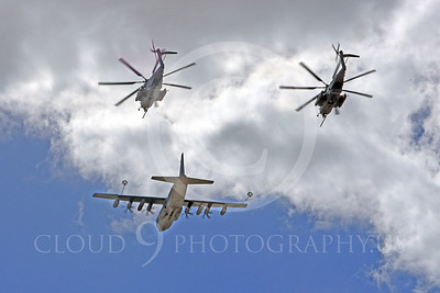 AAR 00114 A USMC Lockheed KC-130 Hercules and two USMC Sikorsky CH-53 Sea Stallion helicopters prepare to aerial refuel airplane picture, by Peter J Mancus