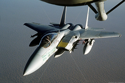 Royal Saudi Air Force F-15 Eagle Aerial Refueling Pictures