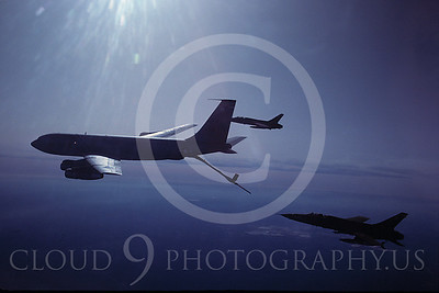 ARF105 00008 Boeing KC-135 Stratotanker and Republic F-105 Thunderchief by Peter J Mancus