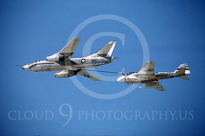 ARA6 00003 Douglas KA-3B Skywarrior and Grumman A-6E Intruder,  23 October 1983, by Peter B Lewis