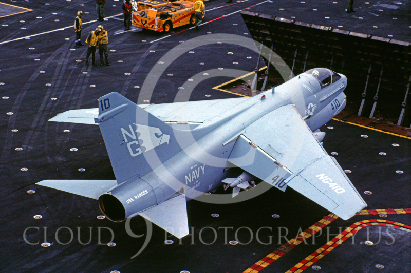 ACCSA7 00009 Vought A-7E Corsair II 158823 VA-195 US Navy USS Ranger June 1983 by Peter J Mancus