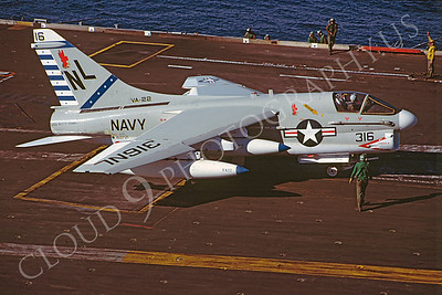 ACCSA7 00022 Vought A-7E Corsair II 160721 VA-22 USS Kitty Hawk African Aviation Slide Service