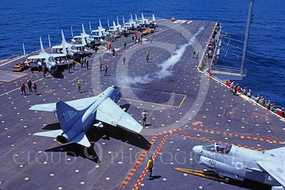 ACCSA7 00013 Vought A-7E Corsair II US Navy USS Ranger by Peter J Mancus