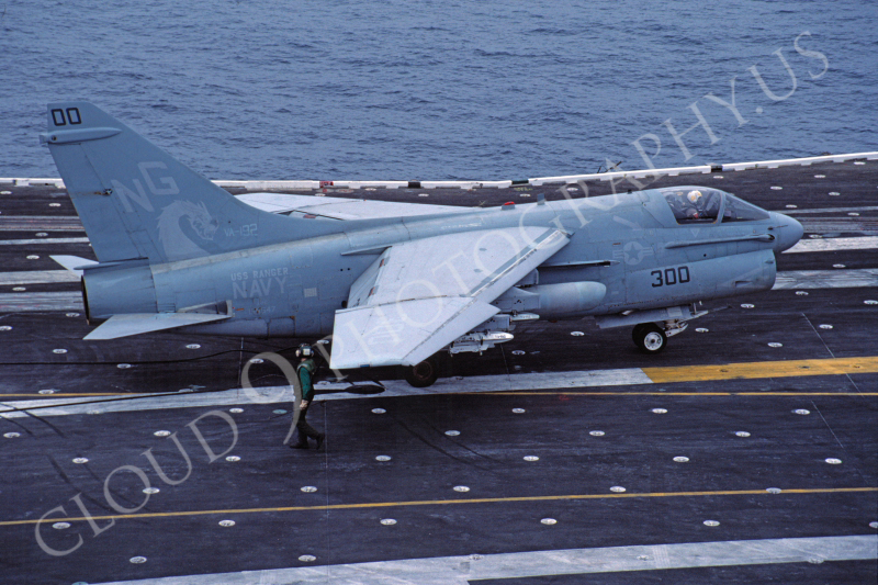 ACCSA7 00018 Vought A-7E Corsair II VA-192 USS Ranger June 1983 by Peter J Mancus