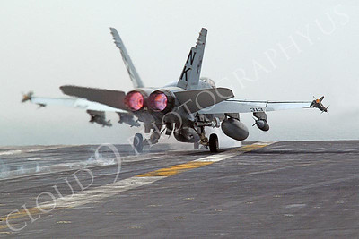 An F/A-18C Hornet assigned to Strike Fighter Squadron ONE ONE THREE (VFA 113) launches from catapult number two  March 21, 2003.  USS Abraham Lincoln (CVN 72) and Carrier Air Wing FOURTEEN (CVW 14) are conducting combat operations in support of Operation Iraqi Freedom. (U.S. Navy photo by Photographer's Mate Third Class (AW/PJ) Philip A. McDaniel)(Released)