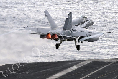 """081124-N-3610L-147 PACIFIC OCEAN (Nov. 24, 2008) An F/A-18C Hornet, assigned to the """"Stingers"""" of Strike Fighter Squadron (VFA) 113, launches from the flight deck of the Nimitz-class aircraft carrier USS Ronald Reagan (CVN 76) for a final flight home.  All fixed winged aircraft assigned to Carrier Air Wing (CVW) 14 departed Ronald Reagan to return to homeport after a six-month deployment, aiding in Operation Enduring Freedom, an operation which gave support to ground troops in Afghanistan. (U.S. Navy photo by Mass Communication Specialist 3rd Class Torrey W. Lee/Released)"""