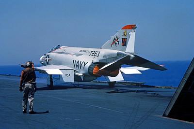 ACCSF4 00005 McDonnell Douglas F-4J Phantom II 7283 VF-11 USS Forrestall  official US Navy photograph