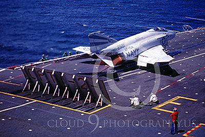 ACCSF4 00014 McDonnell Douglas F-4 Phantom II 2981 VF-154 USS Coral Sea 8-1982 by Peter B Lewis