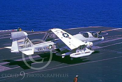 ACCSEA6B 00006 Grumman EA-6B Prowler VAQ-130 USS Forrestal 9-1981 by Michael C Maule