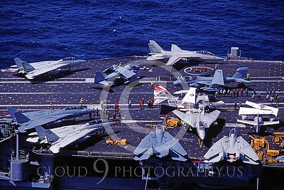 ACCSF14 00001 Crowded USS Ranger flight deck July 1983 by Peter J Mancus