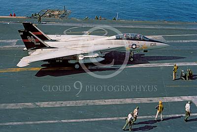 ACCSF14 00022 Grumman F-14 Tomcat VF-51 USS Kitty Hawk by Rene J Francillon