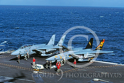 ACCSF14 00014 Grumman F-14 Tomcat VF-31 USS Abraham Lincoln 1997 by Carl E Porter