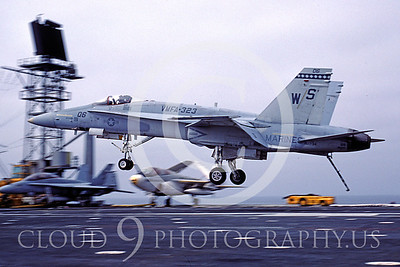 ACCSF18 00005 McDonnell Douglas F-18 Hornet VMFA-323 USMC WS tail code by Peter J Mancus