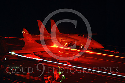 ACCSA7 00008 Vought  A-7E Corsair II night launch by Peter J Mancus